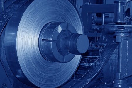 Hot rolled strip steel products in the production line