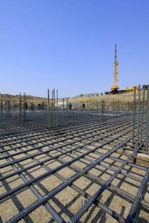 鉄筋工事現場、北中国工学