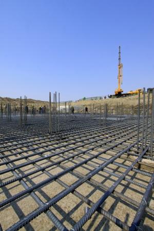 Rebar Engineering at a construction site, north china  Standard-Bild