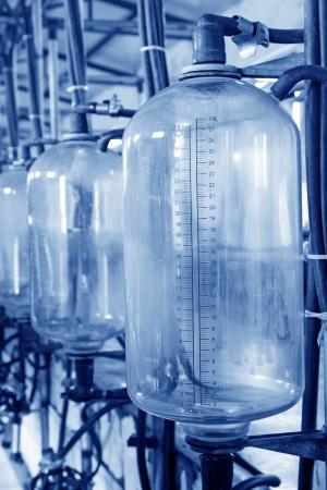 glass milk storage tank in a milking workshop, luannan county, china Stock Photo - 20753305
