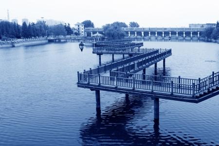 trestle: trestle bridge in a garden in north china