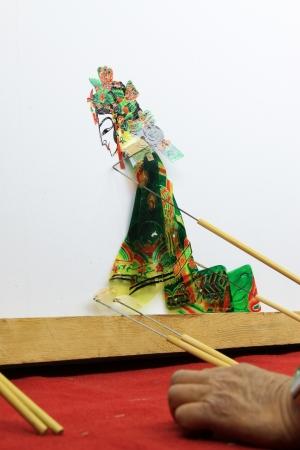 repertoire: Luannan - 15 mei Prestaties van traditionele schaduwspel op backstage op 15 mei 2013, Luannan, Hebei provincie, china