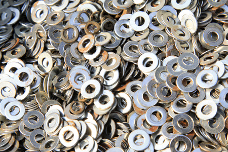 gasket, a kind of ardware components piling up in together Stock Photo - 26001281