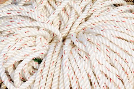 White nylon tape rolls in a shop, closeup of photo Stock Photo - 26124981