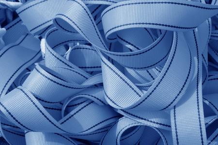 blue nylon tape rolls in a shop, closeup of photo Stock Photo - 26125542