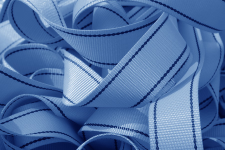 blue nylon tape rolls in a shop, closeup of photo Stock Photo - 26224963
