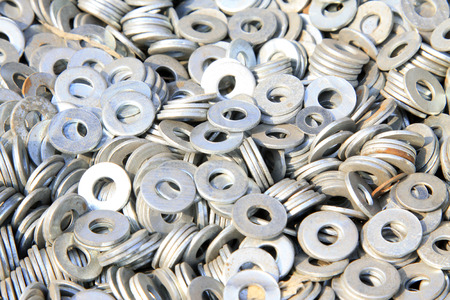 gasket, a kind of ardware components piling up in together Stock Photo - 26355333