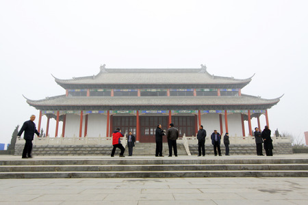 hebei: JING COUNTY - DECEMBER 8: The Kaifu temple audience hall architectural appearance, on december 8, 2013, jing county, hebei province, China.