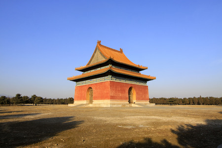 restore ancient ways: memorial building landscape, in the Eastern Tombs of the Qing Dynasty, on december 15, 2013, ZunHua, hebei province, China.