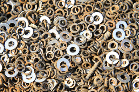gasket, a kind of ardware components piling up in together Stock Photo - 26666925