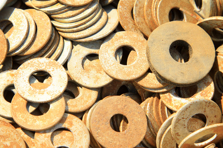 gasket, a kind of ardware components piling up in together Stock Photo - 26666927
