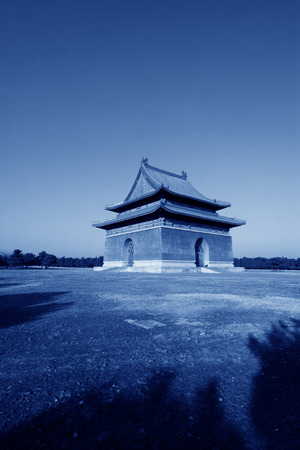 luxuriant: memorial building landscape, in the Eastern Tombs of the Qing Dynasty, on december 15, 2013, ZunHua, hebei province, China.