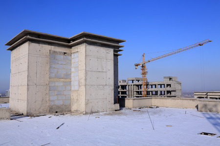 unfinished building: Cantiere incompiuto, primo piano di foto