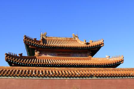 luxuriant: Eaves ridge beast landscape architecture, ZunHua, hebei province, China.
