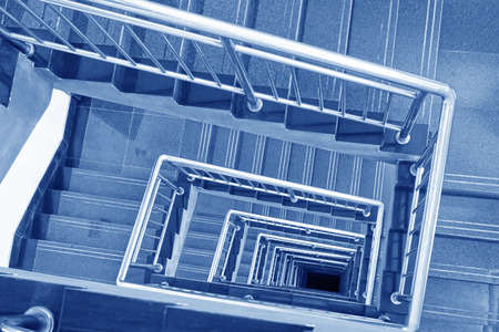 stairs down landscape in a building, closeup of photo  photo