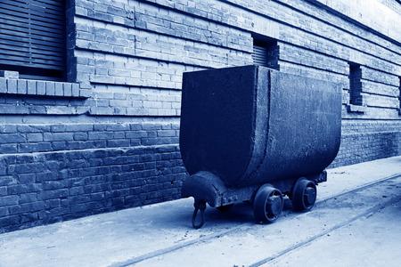 holgaz�n: transportista ferroviario de inactividad en una f�brica, primer plano de la foto