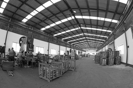 blanking: Blanking workshop production line, in a manufacturing enterprise, on December 20, 2013, tangshan city, hebei province, China.  Editorial