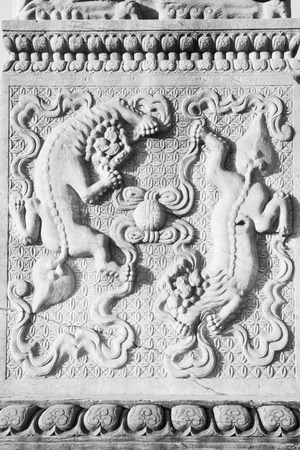 stone carving: animal stone carving works in the Eastern Tombs of the Qing Dynasty, china Editorial