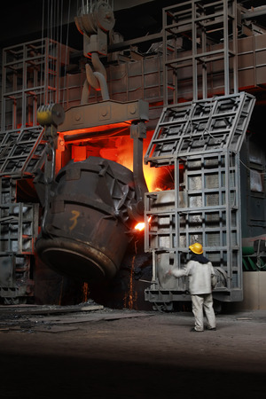 Iron and steel industry furnace and operating workers