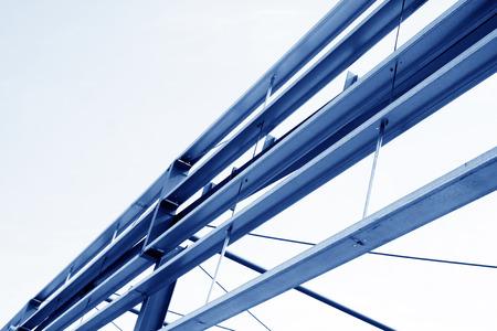 charpente m�tallique: Structure en acier paysage int�rieur dans une usine Banque d'images