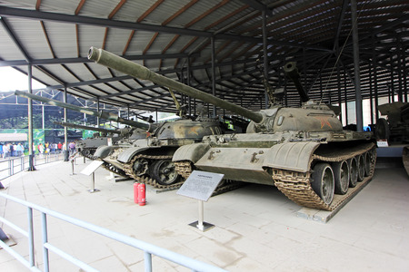 BEIJING - MAY 24: China made 59 type medium tank, in the Chinese military museum, on may 24, 2014, Beijing, China