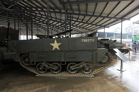 BEIJING - MAY 24: canadian UC - F1 type light crawler tractor, in the Chinese military museum, on may 24, 2014, Beijing, China