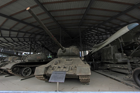 restore ancient ways: BEIJING - MAY 24: Soviet union made T - 3485 medium tank, in the Chinese military museum, on may 24, 2014, Beijing, China