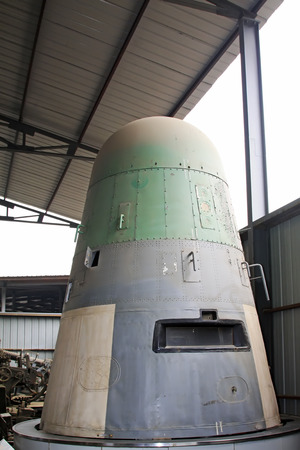 sensing: BEIJING - MAY 24: Recoverable remote sensing satellite, in the Chinese military museum, on may 24, 2014, Beijing, China  Editorial