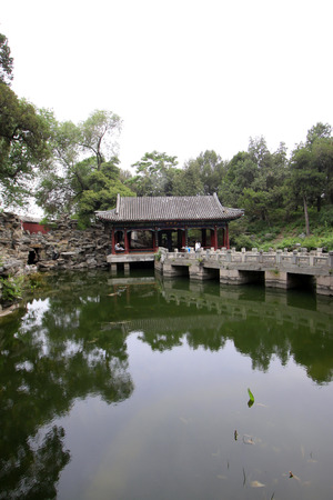 Haopujian architecture landscape in the Beihai Park in Beijing, China  photo