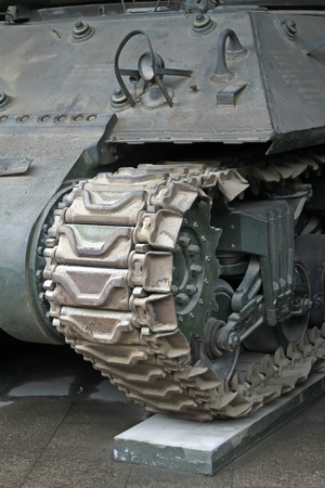 restore ancient ways: tanks transmission device, closeup of photo