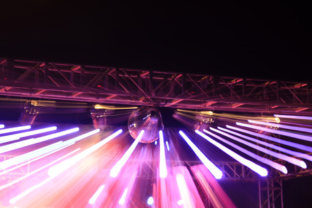 stage lighting effect in the dark  photo