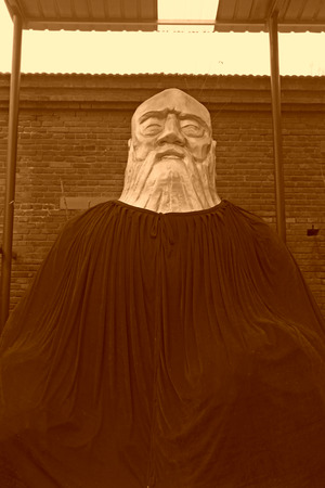 cassock: JING COUNTY - DECEMBER 8: The Kaifu temple sculpture, on december 8, 2013, jing county, hebei province, China.