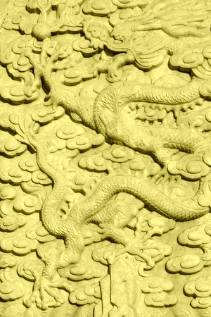 flying dragon: The flying dragon stone carving, in the Eastern Tombs of the Qing Dynasty, ZunHua, hebei province, China.