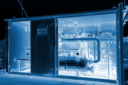 圧縮天然ガス調節可能な仕切り、写真のクローズ アップ 写真素材
