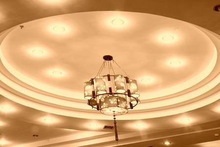 lamp shade: traditional Chinese style lamp shade, closeup of photo