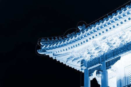 traufe: Traditionelle chinesische Architektur Traufe