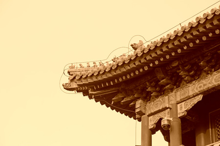 eaves: Chinese traditional style architecture eaves