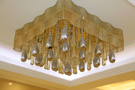 droplight: glass chandelier in a hotel