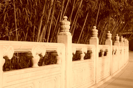 white marble: White marble railings in the Jingshan Park, beijing, china Stock Photo