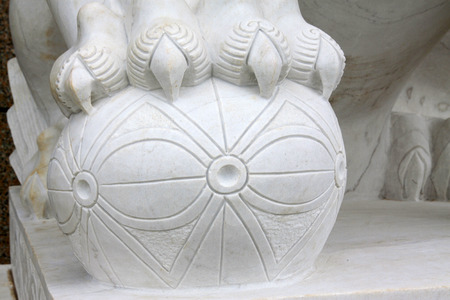 white marble: White marble stone carving works, closeup photo Stock Photo