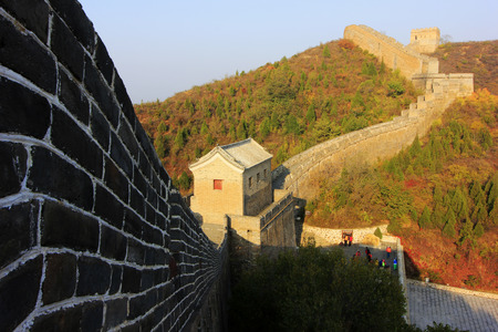 the humanities landscape: Jinshanling Great Wall scenery, China Editorial