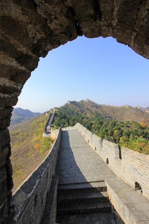 jinshanling: Jinshanling Great Wall scenery, China Stock Photo