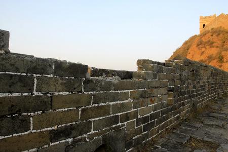 the great wall and the fall: Jinshanling Great Wall scenery, China Stock Photo