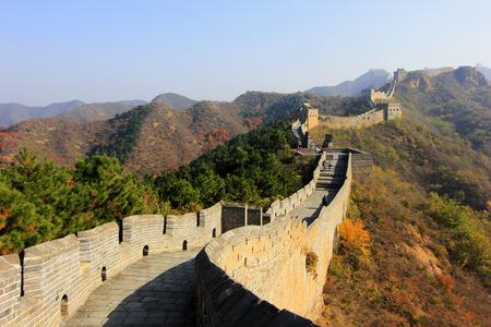 restore ancient ways: Jinshanling Great Wall scenery, China Stock Photo