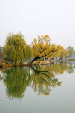 hebei: CHENGDE CITY -  OCTOBER 20: Natural scenery in chengde mountain resort, on october 20, 2014, Chengde City, Hebei Province, China