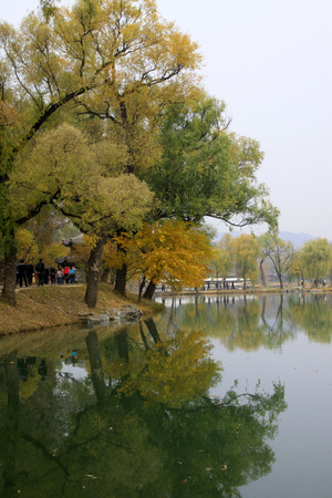hebei province: CHENGDE CITY -  OCTOBER 20: Natural scenery in chengde mountain resort, on october 20, 2014, Chengde City, Hebei Province, China