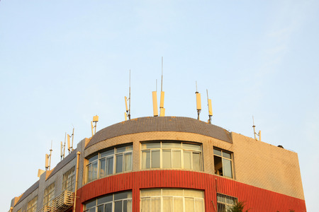 hebei province: CHENGDE CITY -  OCTOBER 20: Chengde branch building of China travel international, on october 20, 2014, Chengde City, Hebei Province, China