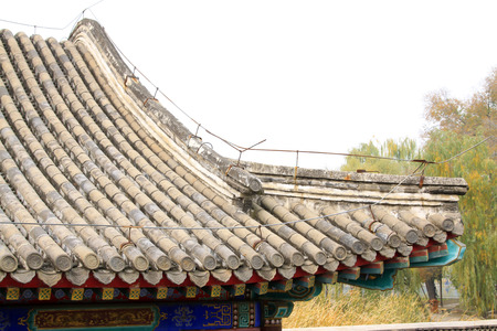 eaves: Chinese style building eaves, closeup photo