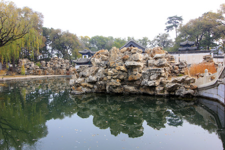 wen: CHENGDE CITY -  OCTOBER 20: Wen Garden lion forest scenery in chengde mountain resort, on october 20, 2014, Chengde City, Hebei Province, China