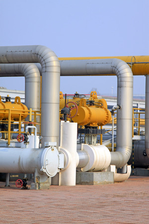 crude oil processing and transmission equipment, closeup photo photo